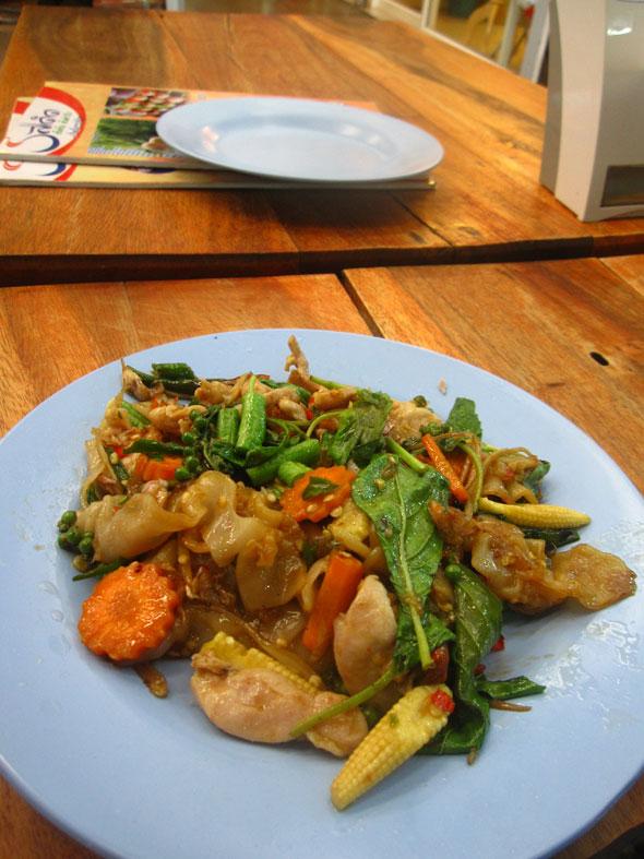 thai drunken fried rice noodles