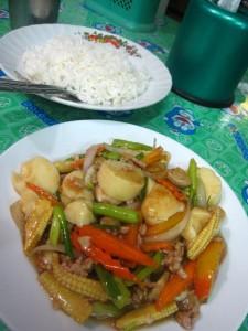 Thai stir fried Tofu