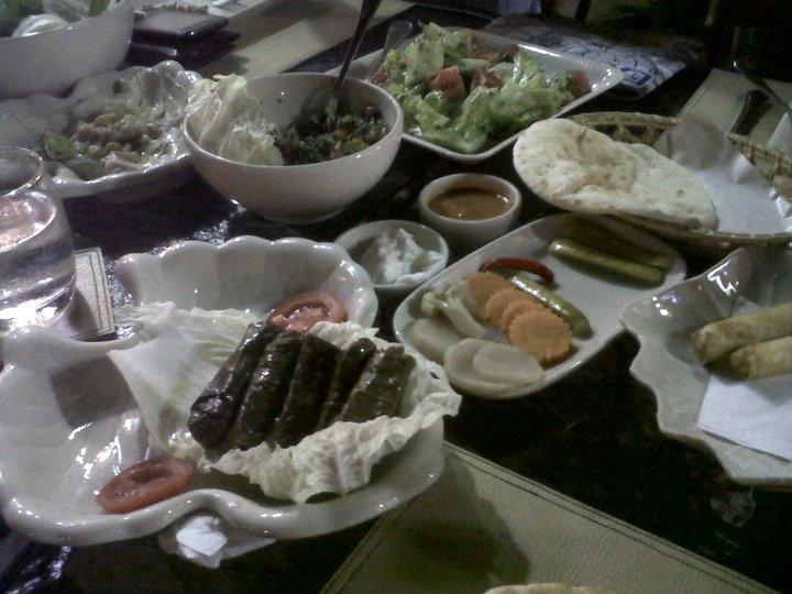 The spread at Nadimos