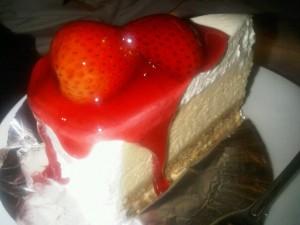 Closeup of the Strawberry Milk Cake