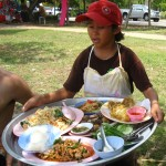little girl platter 150x150 Thai Style Wedding   Migrating from Meal to Meal