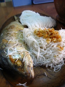 mackerel with noodles