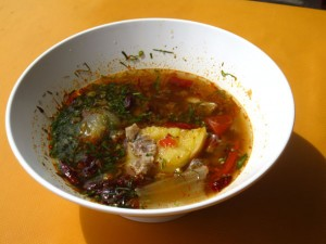 Thai beef soup