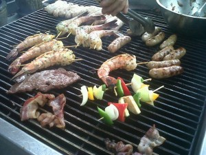 Brunch on the grill