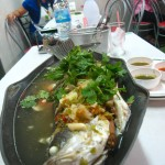 plah kapong manao 150x150 Hor Mok Ma Prao On (Seafood Curry in Coconut)