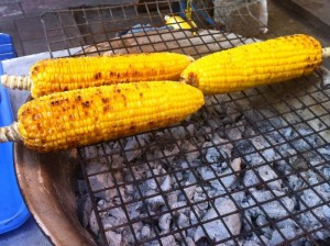 Golden Grilled Yellow Corn