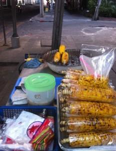 Siam Square Street Food Corn Cart