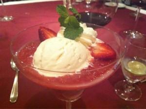 Rhubarb compote with Vanilla Ice Cream