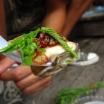 Thai style fresh oyster with toppings (hoy naang rom sot)