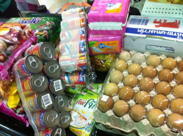 Over the weekend we donated food and toiletries.