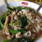 Day 15 Vegetarian Thai Food: Passion Juice Man, Wide Rice Noodles, Straw Mushrooms