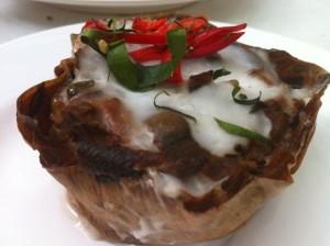 Vegetarian Ho Mok (ห่อหมกเจ)