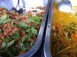 A la Carte: Vegetarian Mushroom Larb, Spicy Yellow Tofu Curry or Both!