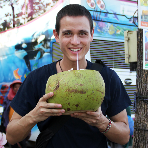 Here I am with a Giant Coconut!