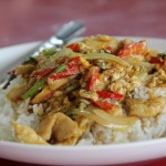Food Photo: Thai Yellow Chicken Curry Over Rice