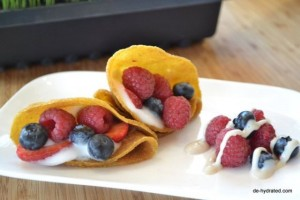 Sweet crepes with wild berries made by Dehydrated MLC