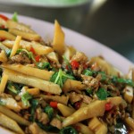 Pork and Bamboo Shoot Stir Fried with Thai Holy Basil