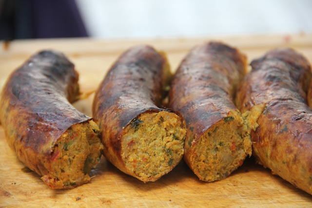 Spicy Northern Thai Sausage to go in 'Thai Hot Dogs'