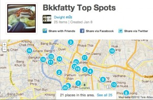 Use the Foursquare homepage to map out your favorite places.