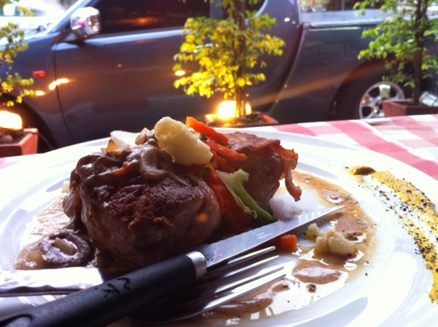 Fillet mignon with a side of Bangkok traffic