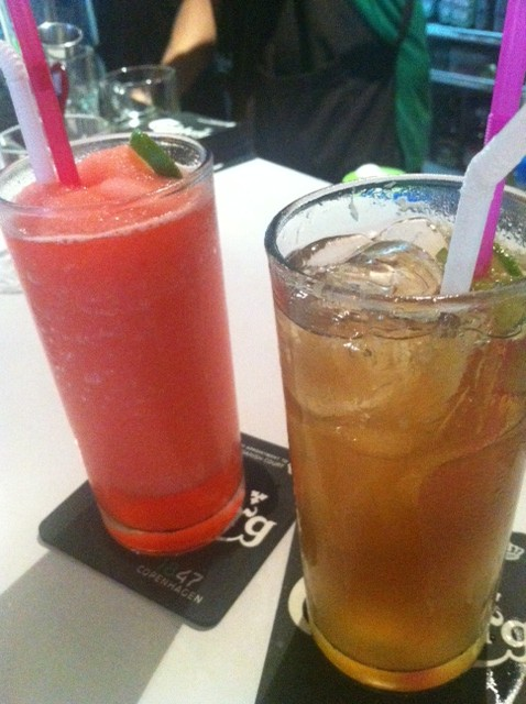 Back to the Basic: Strawberry Valentines Daiquiri and strong Long Island Iced Tea