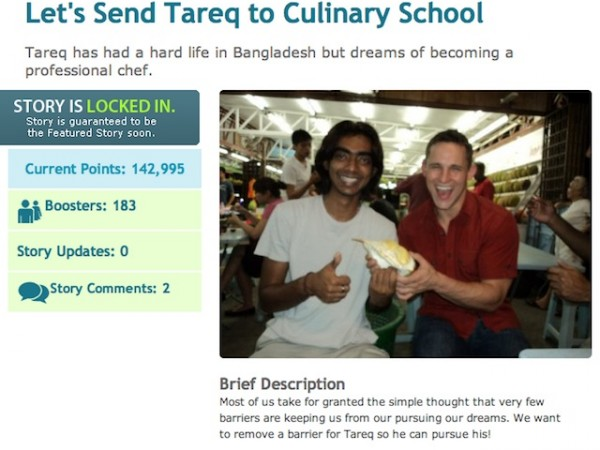 Let's send Tareq to culinary school with HopeMob!