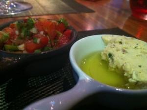 Salsa and Garlic Butter