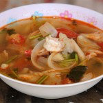 thai tom yum goong soup recipe 150x150 Tom Kha Gai Recipe (วิธีทำ ต้มข่าไก่)   Authentic Thai Style