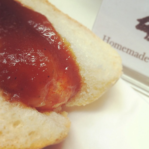 A chorizo bun made from Sloane's ethically raised pork and homemade sauces.