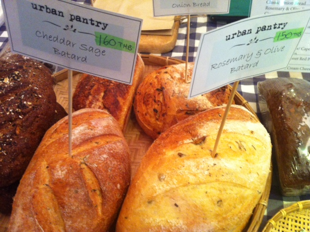 Artisian bread loaf stack by Urban Pantry Bkk