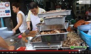 Street food in Yaowarat, Chinatown