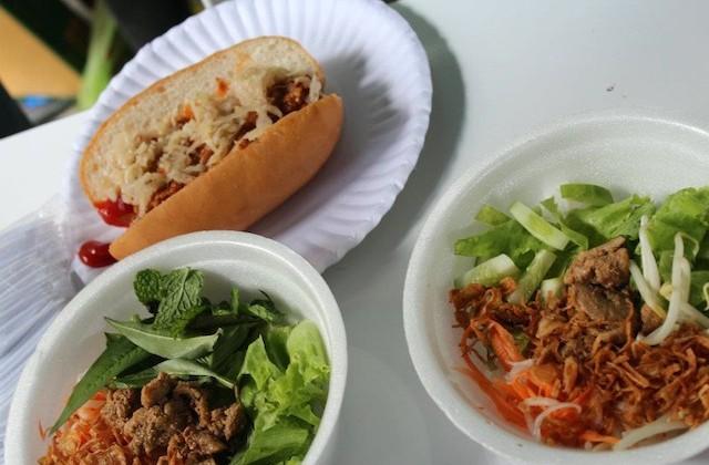 Plates at Big Bite Bangkok, the charity tasting market at Maduzi Hotel