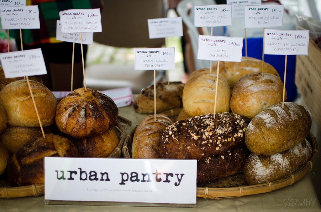 Freshly baked artisan bread from Urban Pantry.