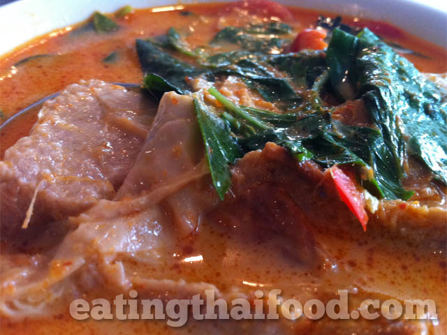Fake duck red vegetarian curry