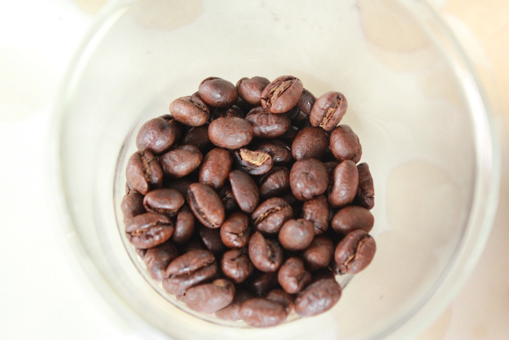A cup of premium blend coffee beans harvested from Northern Thailand