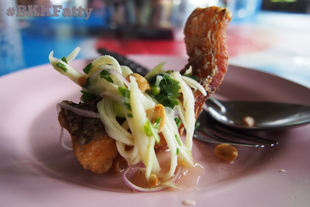 Thumbnail image for Food Photo: Crispy Roadside Fried Fish Chunk with Spicy Mango Topping