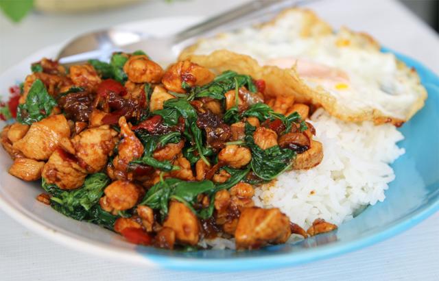 in spicy basil chicken spicy thai basil chicken spicy basil chicken my ...