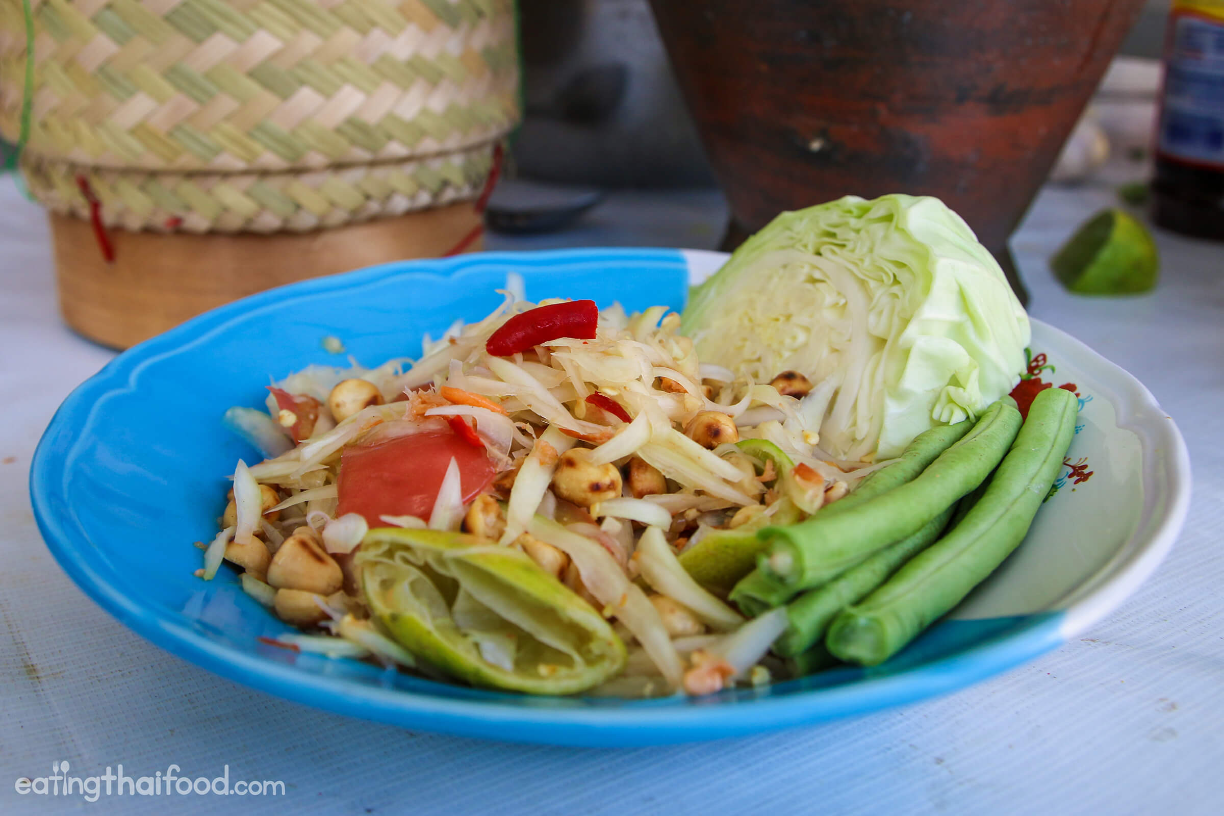 Thai recipes eating thai food thai green papaya salad recipe thai street food style forumfinder Choice Image