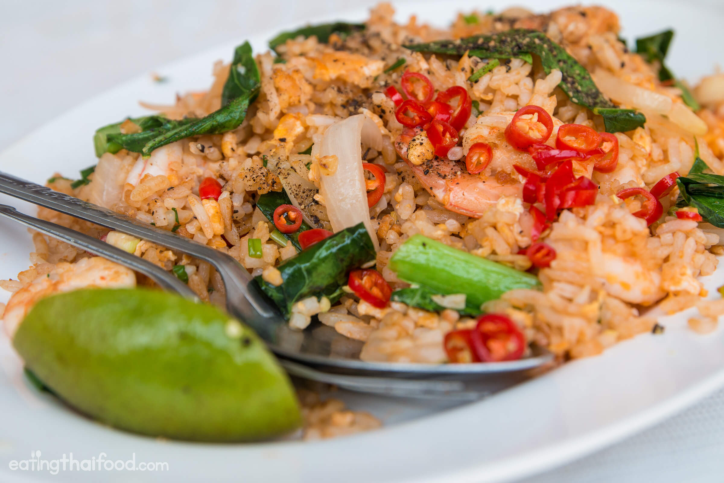Authentic thai fried rice recipe street food style thai fried rice recipe forumfinder Choice Image