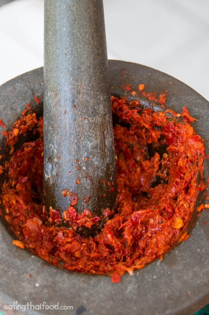authentic Thai red curry paste