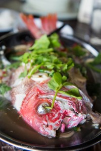 ปลาแดงนึ่งมะนาว