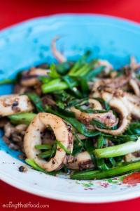 Squid with shrimp paste