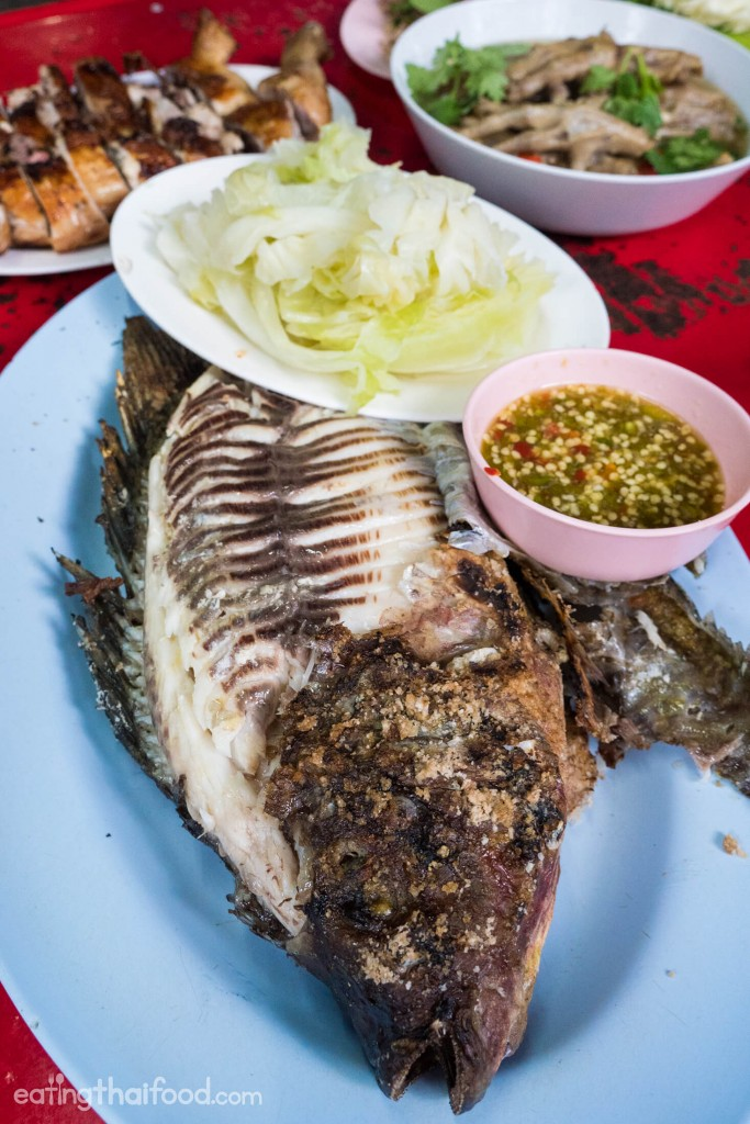 Grilled Fish In Bangkok At Laab Udon ร้านลาบอุดร