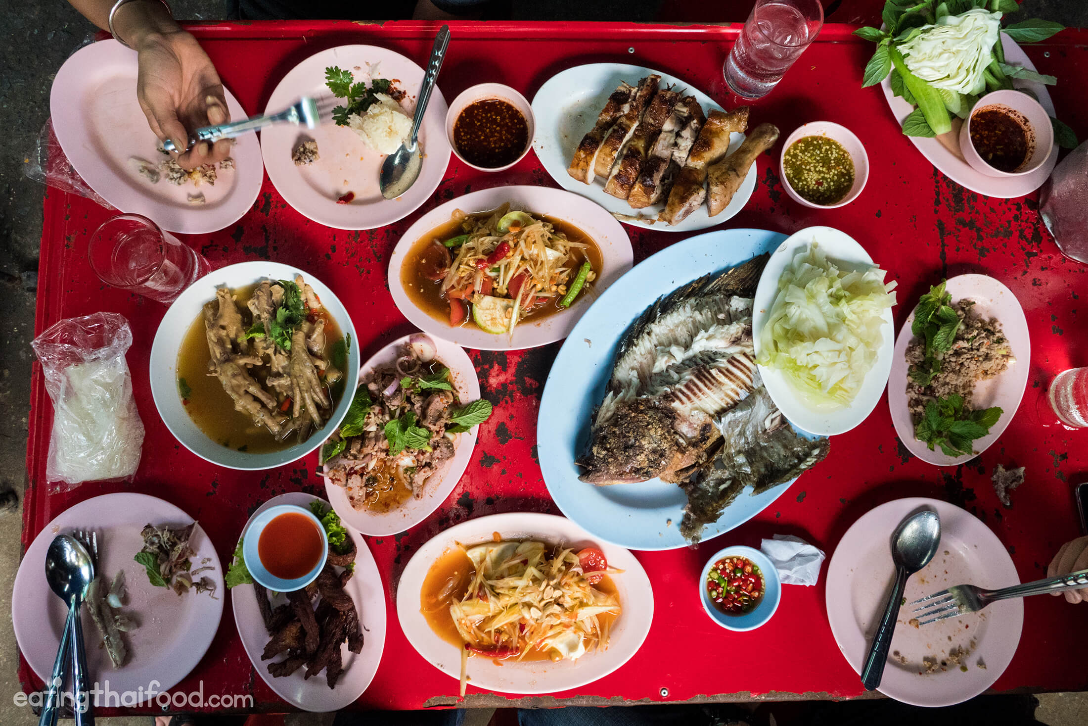 Grilled Fish in Bangkok at Laab Udon (ร้านลาบอุดร)