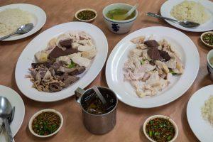 Thai chicken rice in Bangkok