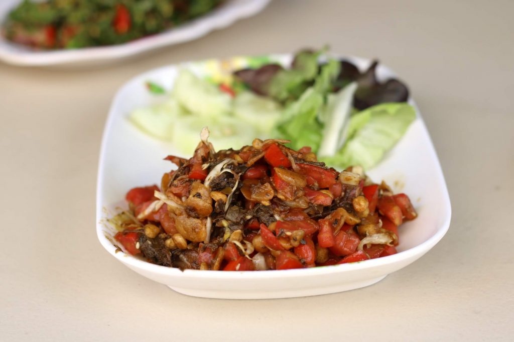 Tea Leaf Salad at Nong Bee Burmese Library