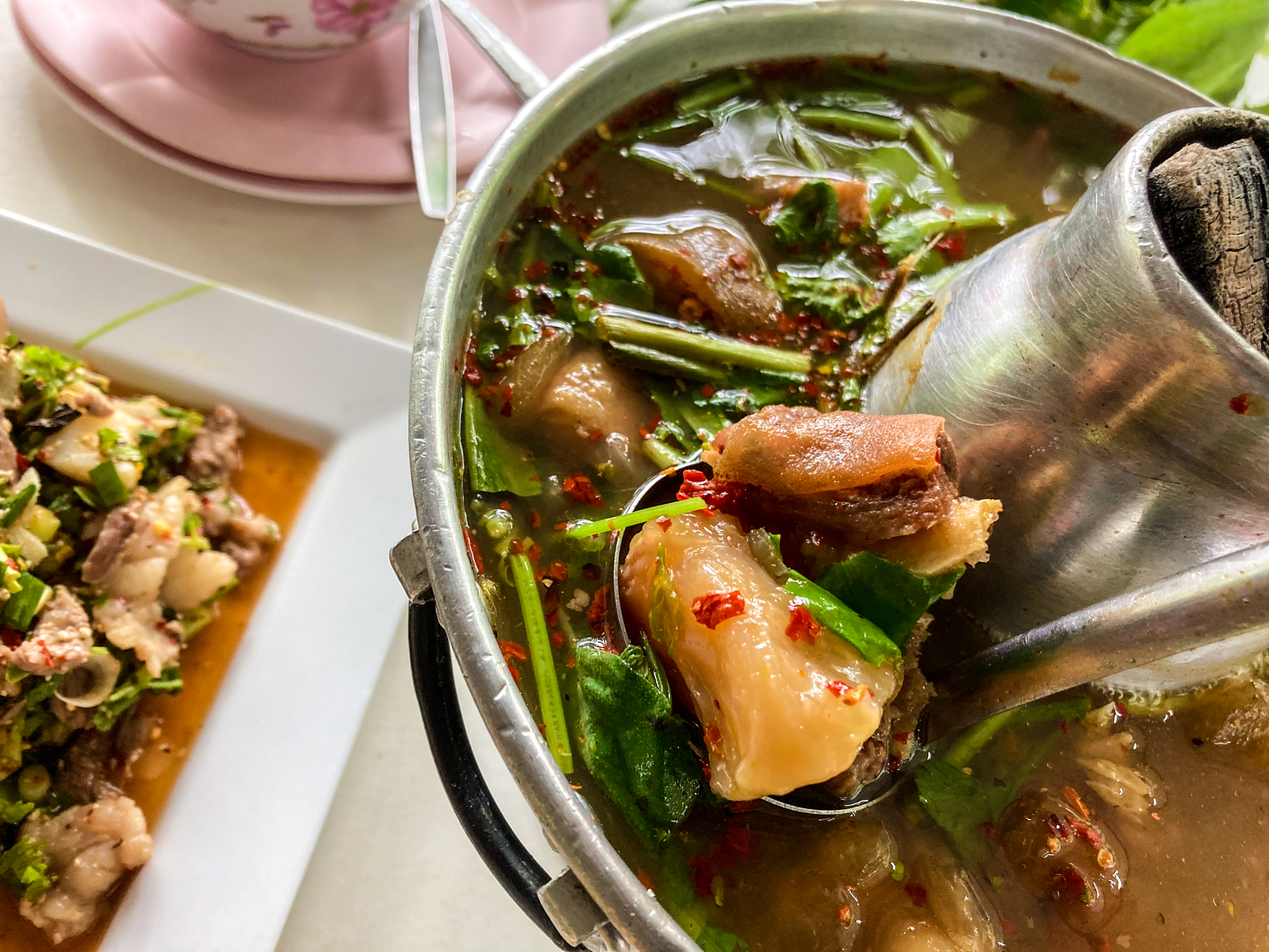 Just reading the name of this dish, it might be surprising to hear of oxtail soup as 'Thai' food.